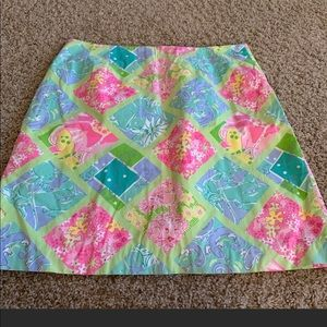 Lily Pulitzer beautiful patterned skirt size 8 EUC